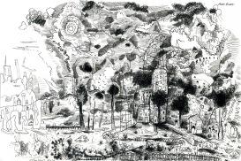 More Bones, 2000, ink on paper, 28 x 20 cm