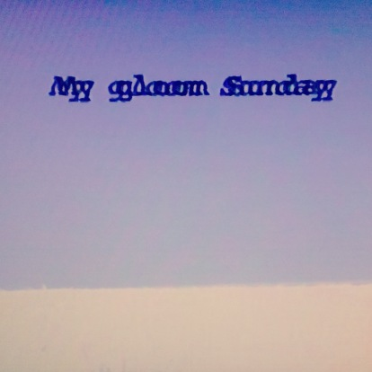 My gloom Sunday, 2019, video still, 4:3 format
