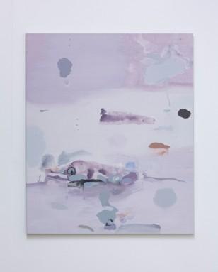 Toward Falcon Heights installation view, 2019, acrylic on canvas, 92 x 76 cm