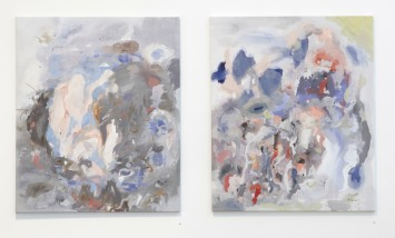 Wunder Pond, 2012, acrylic on canvas, installation view