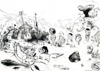 Fatal Shore, 1999, ink on paper, 29.7 x 21 cm